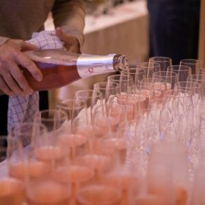 smag mousserende vin eller bobler til brudens dag